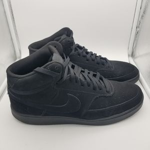 Nike black suede court vision sneakers